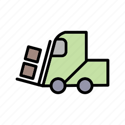 business, heavymachine, loader, transport icon