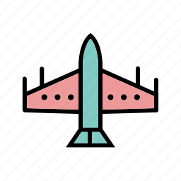fighter, jet, plane icon