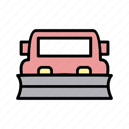 plowing, snow, snow plow, truck icon