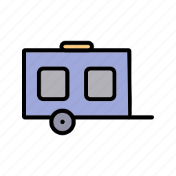 caravan, lorry, transport, transportation, vehicle, wagon icon