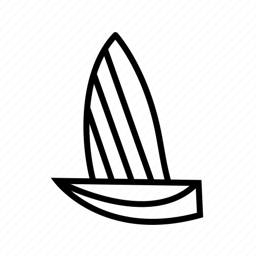 boat, sailboat, sailing, sea, transport, yacht icon