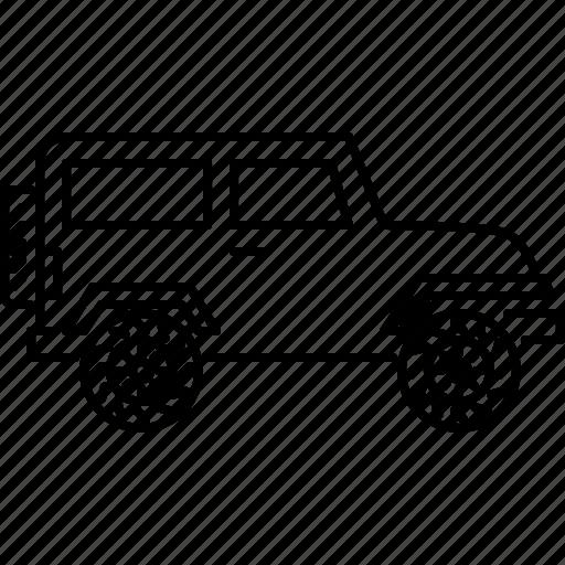 car, machine, sport, transport, transportation, utility, vehicle icon