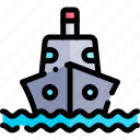 ship, transport, transportation, vehicle icon
