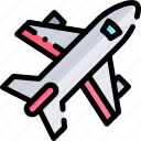 airplane, transport, transportation, vehicle icon