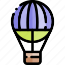 air, balloon, hot, transport, transportation, vehicle icon