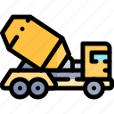 mixer, transport, transportation, truck, vehicle icon