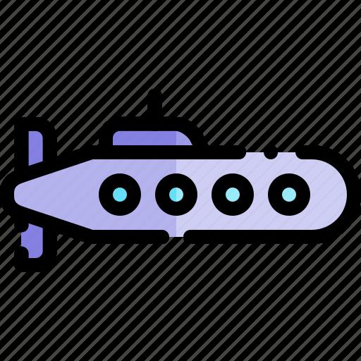 submarine, transport, transportation, vehicle icon