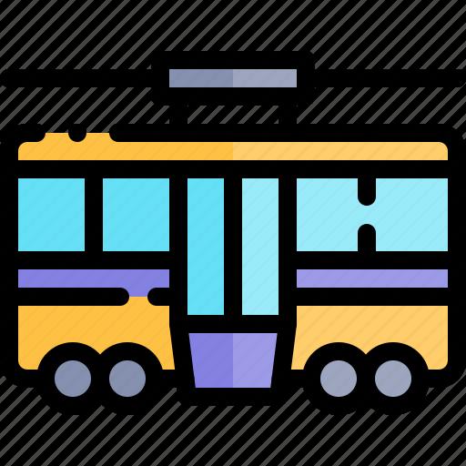tram, transport, transportation, vehicle icon