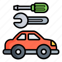 car, carservice, repain, repair, service, tool, work icon
