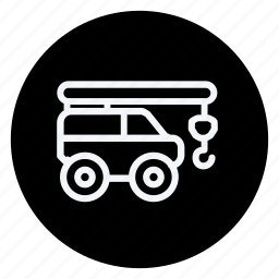 bus, car, crane, forklift, transport, truck, vehicle icon