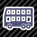 auto, bus, car, double decker bus, transport, transportation, vehicle icon