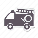 auto, automation, car, fire truck, transport, transportation, vehicle icon