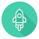 auto, automation, car, rocket ship, transport, transportation, vehicle icon