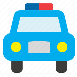 car, law, police, transport, vehicle icon