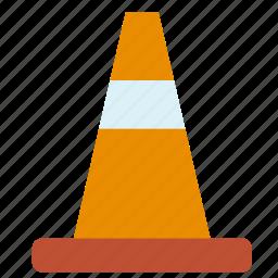 circulation, cone, sign, traffic, transport, travel icon