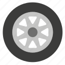 car, pneumatic, tire, transport, tyre, vehicle, wheel icon