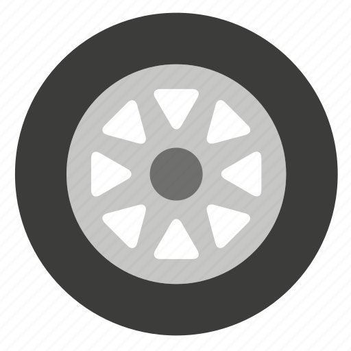 car, pneumatic, tire, transport, tyre, vehicle, wheel icon