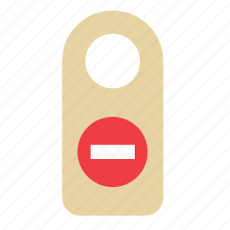 do not disturb, door, hanger, hotel, sign, tourism, travel icon
