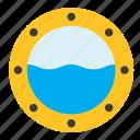 transport, ship, window, sea, boat, porthole