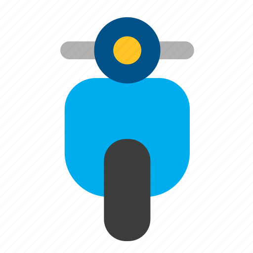 conveyance, motorbike, motorcycle, scooter, transport, vehicle, vespa icon