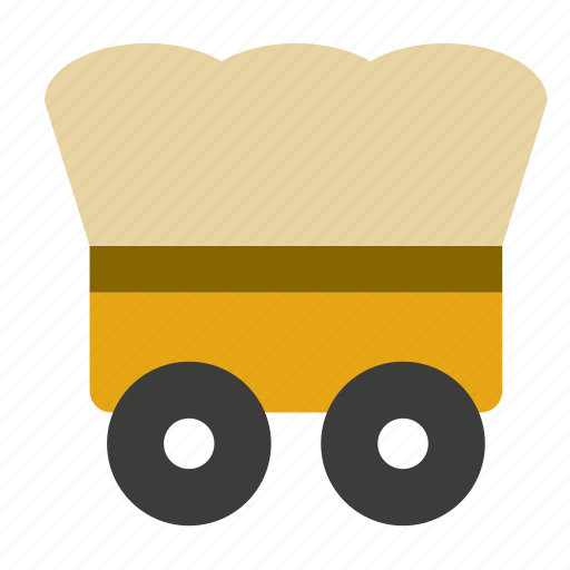 carriage, cart, far west, transport, travel, vehicle icon