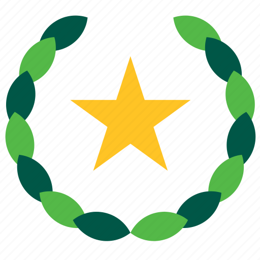 hotel, olive, star, tourism, travel, wreath icon