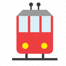 conveyance, railway, streetcar, tram, transport, trolley, vehicle icon