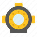 diving, maritime, nautical, space, suit, transport, wet icon