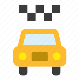 cab, conveyance, new york, taxi, transport, vehicle, yellow icon