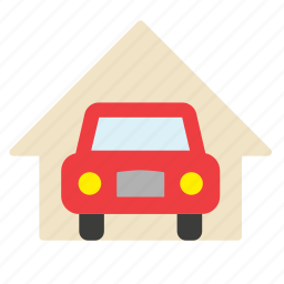 car, carport, garage, house, transport, vehicle icon