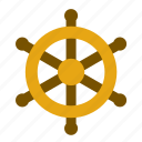 boat, helm, rudder, ship, tiller, transport, travel icon