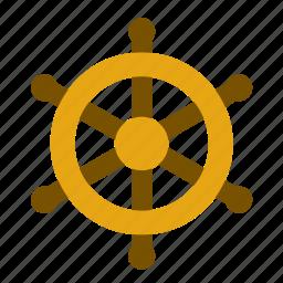 boat, helm, rudder, ship, tiller, transport, travel icon