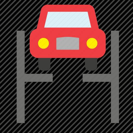 car, garage, lift, repair, shop, transport, vehicle icon