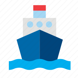 boat, conveyance, marine, sea, ship, transport, travel icon