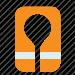 buoyancy aid, jacket, life, preserver, transport, vest icon