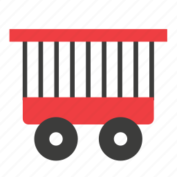 animal, cage, circus, conveyance, transport, vehicle icon