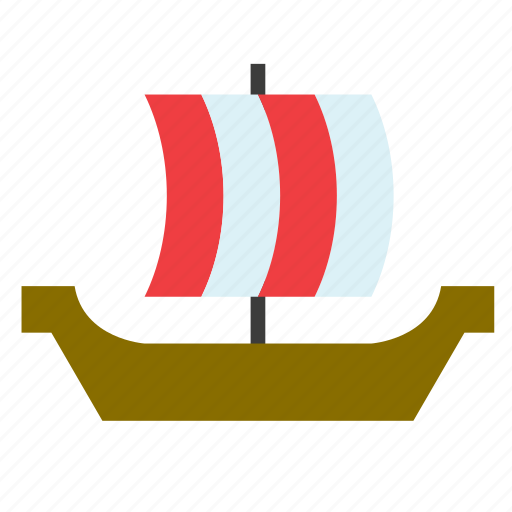 boat, conveyance, ship, transport, vehicle, vessel, viking icon