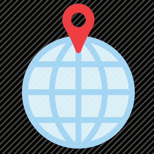 globe, locator, navigation, tourism, transport, travel, world icon