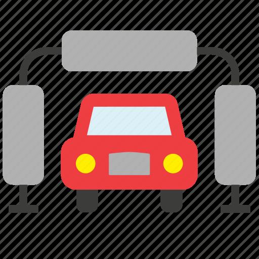 car, conveyance, garage, repair shop, transport, vehicle, wash icon