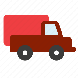 big rig, lorry, transport, travel, truck, vehicle icon