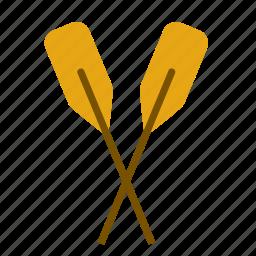 boat, oar, oars, rowing, transport, travel icon