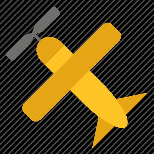 conveyance, light aircraft, plane, small, transport, travel, vehicle icon