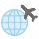 airplane, glove, plane, tourism, transport, travel, world icon