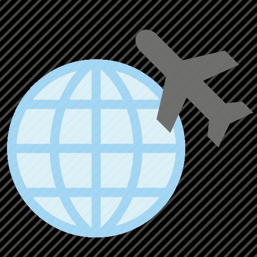 airplane, glove, plane, tourism, transport, travel, world icon