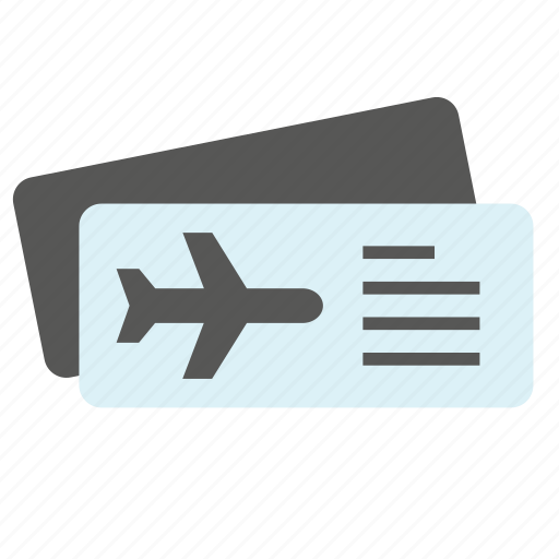 air, airplane, airport, ticket, tourism, transport, travel icon