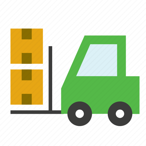 factory, forklift, transport, truck, vehicle icon