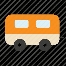 caravan, home, mobile, tourism, transport, travel, vehicle icon