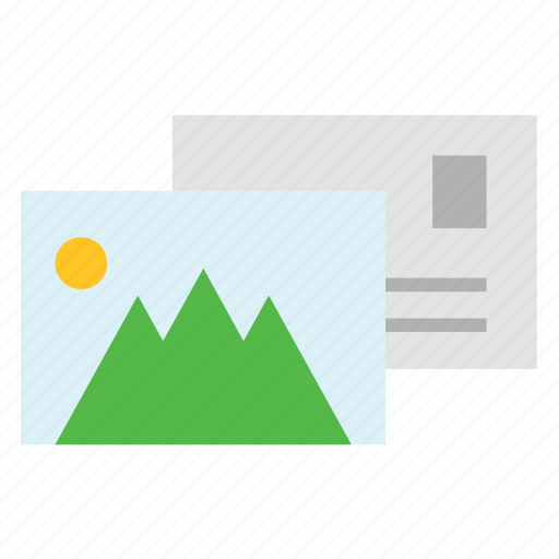 letter, picture, postcard, tourism, travel icon