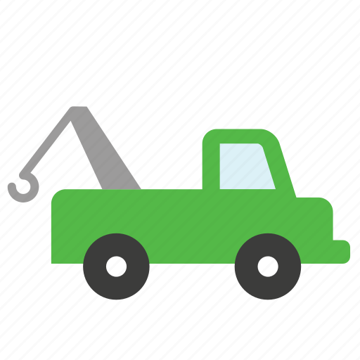 garage, repair shop, tow, towing, transport, truck, vehicle icon