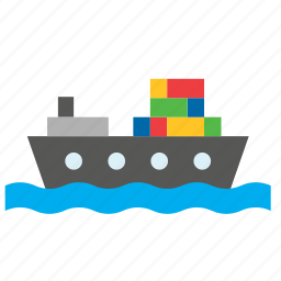 cargo, container, freighter, ship, transport icon